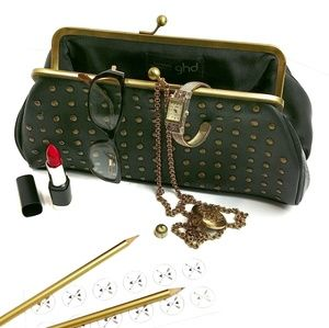 GHD Heat Resistant Studded Travel Clutch Purse
